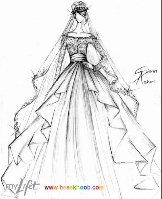 طراحی مد و لباس روی کاغذ - حس خوب