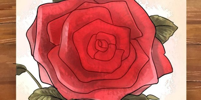 مانتو ۹۶ تولیکا نقاشی مرحله به مرحله توت فرنگی