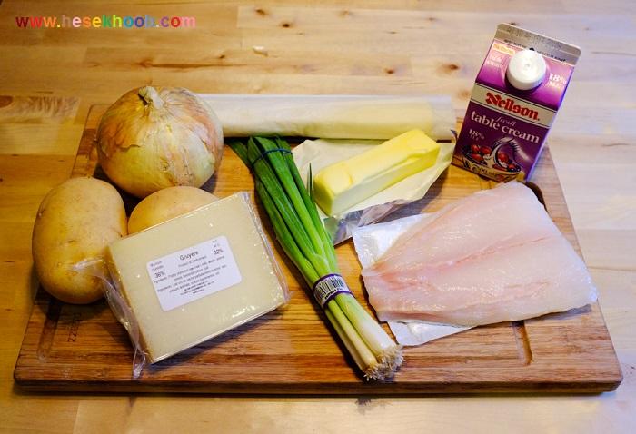 تارت ماهی و پنیر