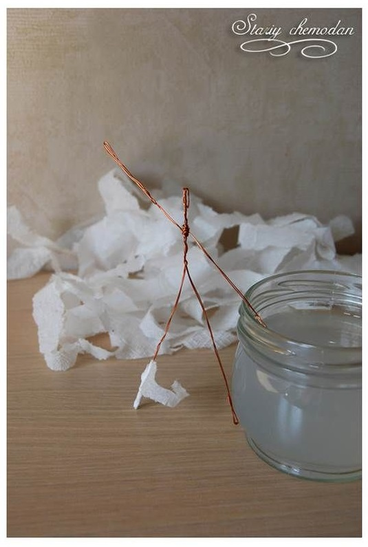 ساخت آدمک با سیم و دستمال کاغذی