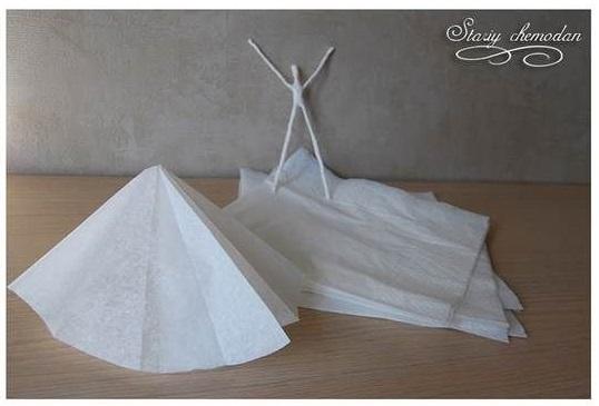 خلاقیت با دستمال کاغذی