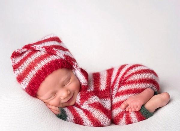 خرید کلاه بافتنی نوزاد عکاسی زمستانه از نوزاد - حس خوب