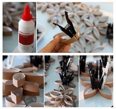 خلاقیت با رول دستمال کاغذی