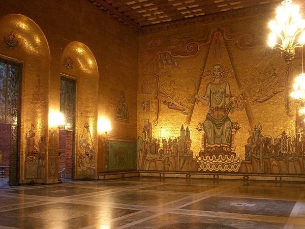 تصاویر درون تالار شهر استکهلم