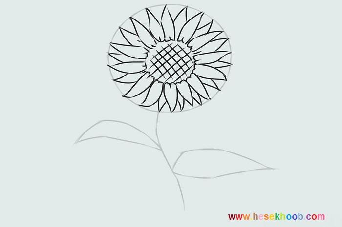 طراحی ساده گل