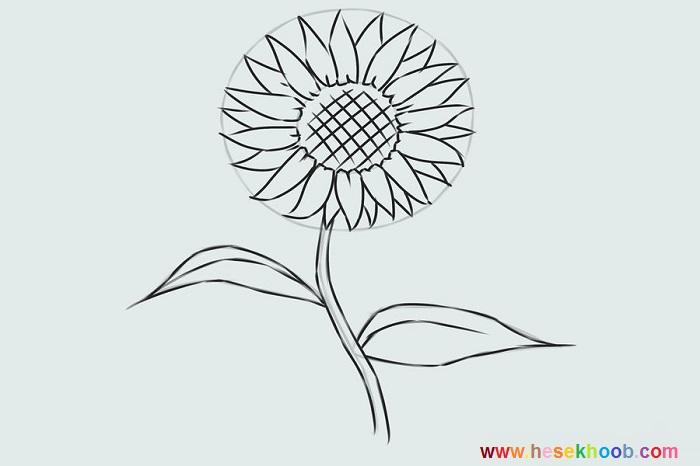 طراحی گل آفتابگردان