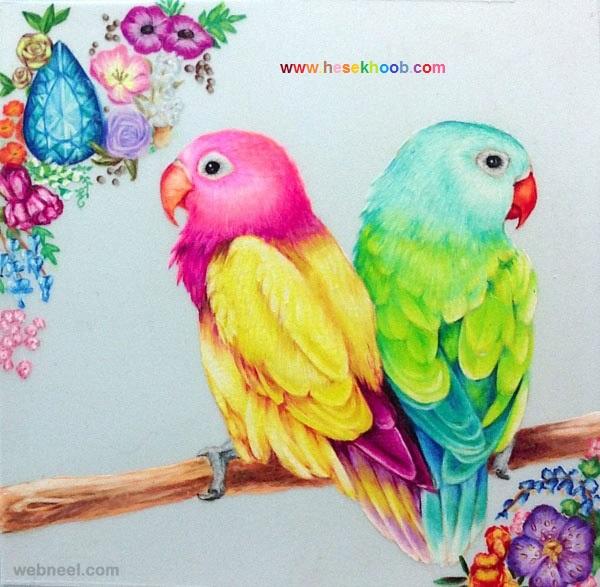 مدل نقاشی طوطی