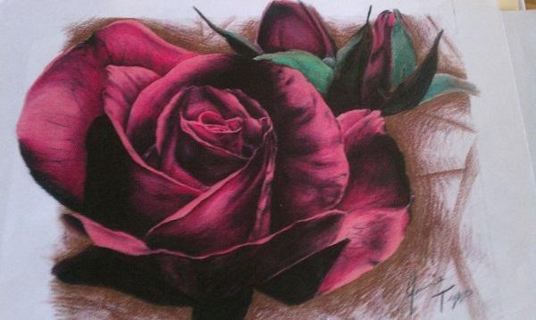 طراحی گل رز