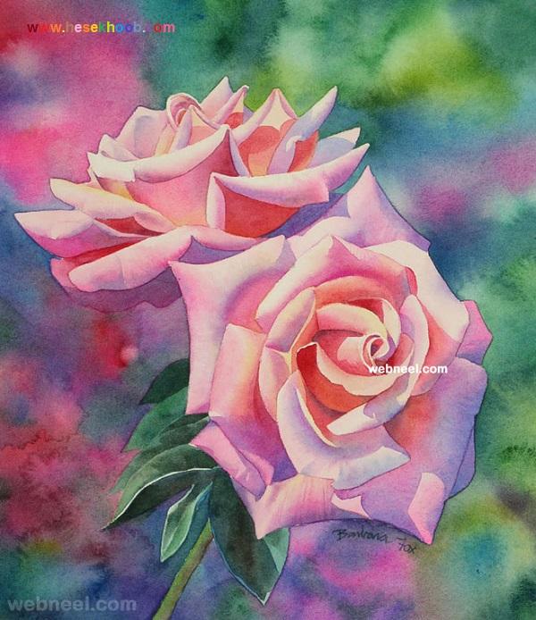 نقاشی گل