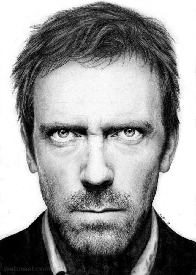 طرح نقاشی چهره مرد