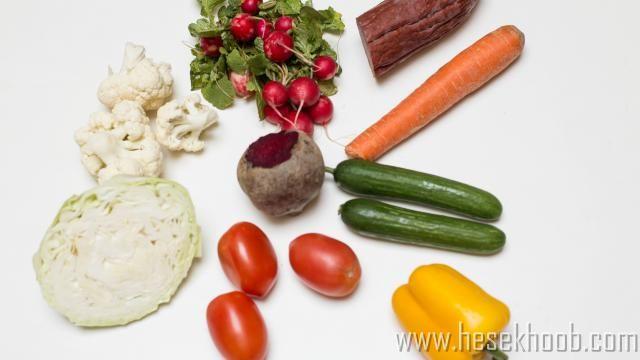 مواد لازم برای سالاد سبزیجات