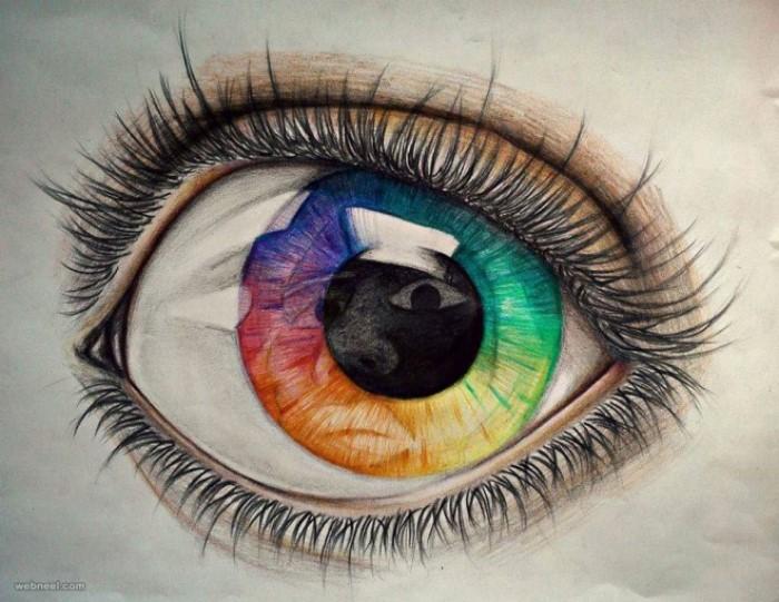 طراحی چشم