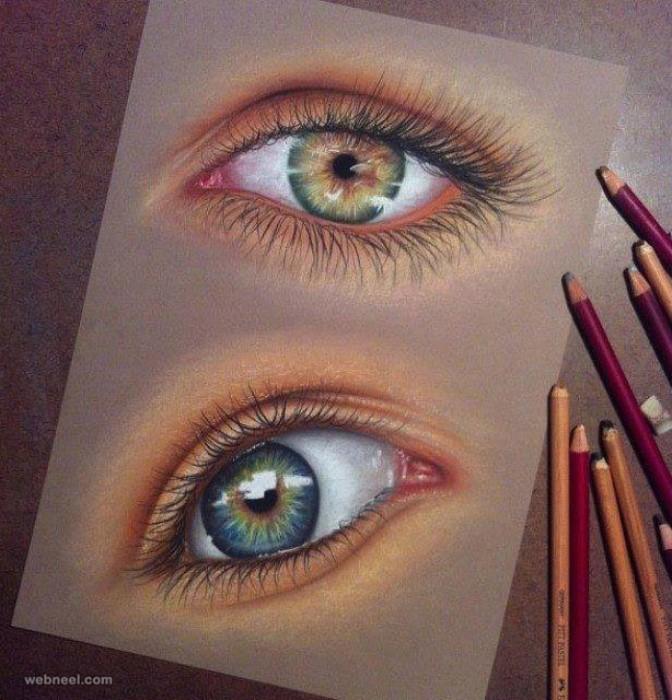 نقاشی چشم