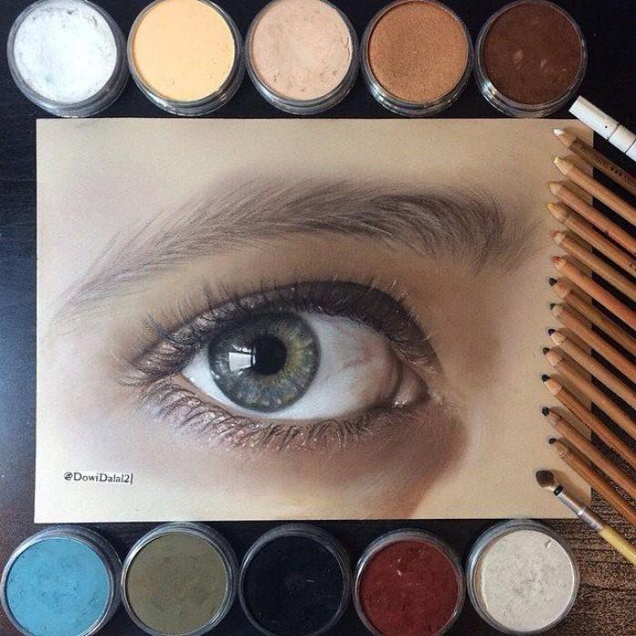 طراحی چشم با مداد