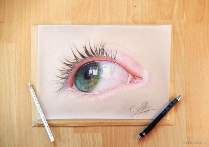 طرح نقاشی چشم