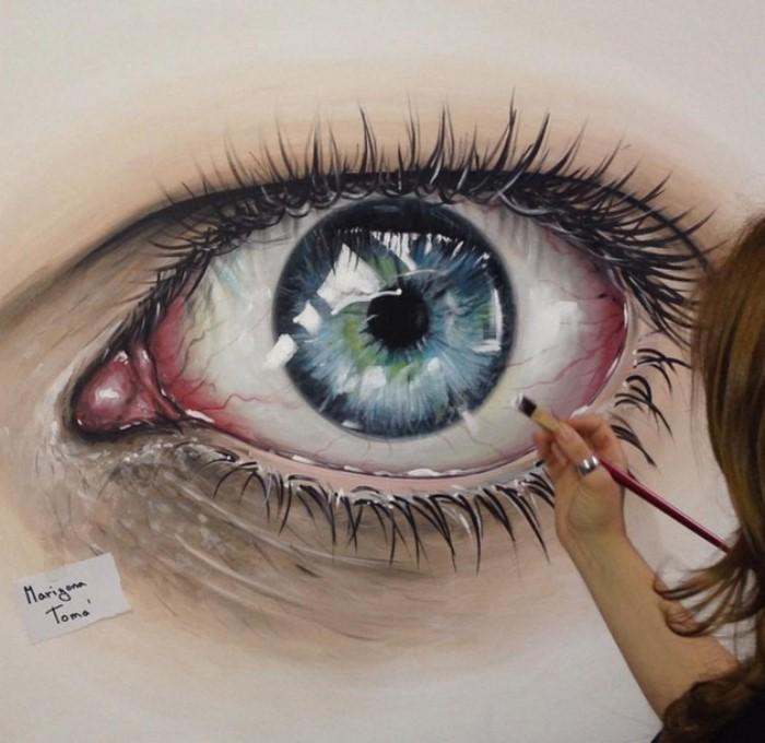 نقاشی چشم با مدادرنگی - حس خوب