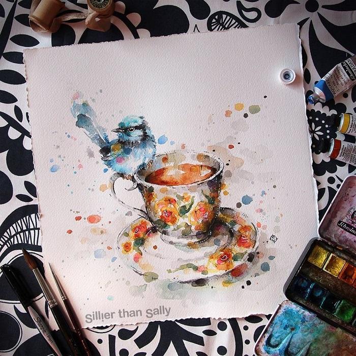 نقاشی آبرنگ زیبا
