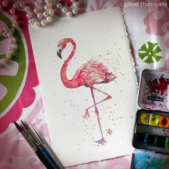 نقاشی آبرنگ پرندگان