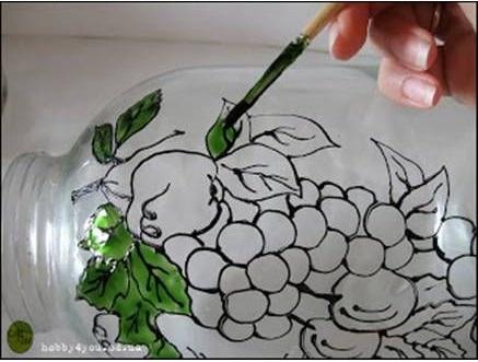 نقاشی روی ظروف