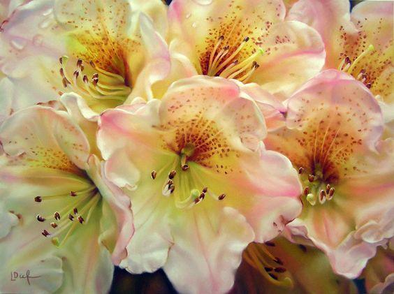 طراحی گل با پاستل