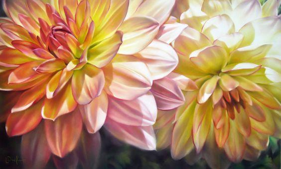 نقاشی گل با پاستل